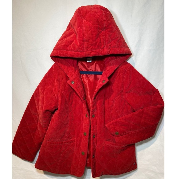 Tommy Hilfiger Other - Tommy Hilfiger Quilted Corduroy Hooded Jacket 6X